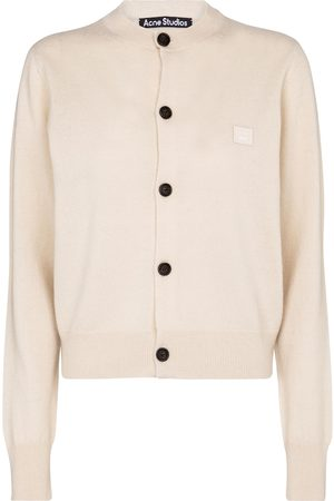 Acne Studios Face wool cardigan