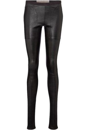 Rick Owens Mid-rise leather leggings