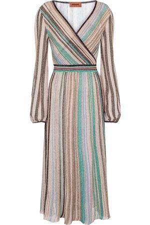 Missoni Striped wrap midi dress