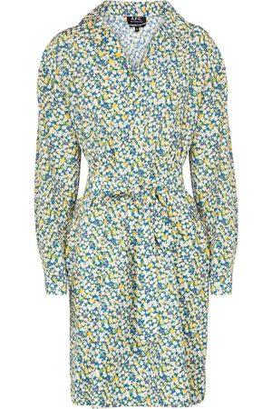 A.P.C. Melissa floral silk and cotton minidress