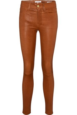Frame Le High Skinny leather pants
