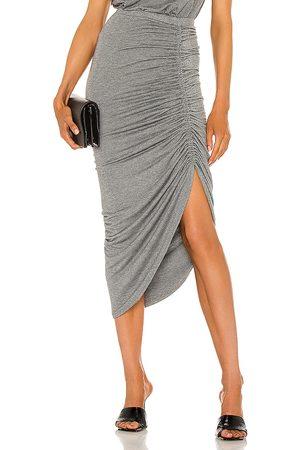 Generation Love Joy Lurex Skirt in Grey.