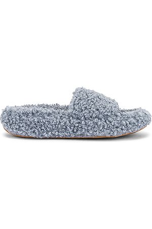Jeffrey Campbell Women Flat Shoes - Goodnight Slipper in Slate, .