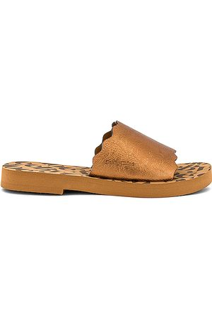 See by Chloé Essie Slide in Metallic Copper.