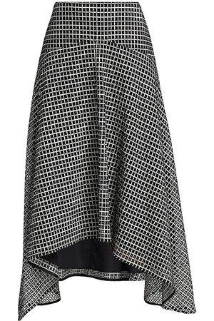 PROENZA SCHOULER WHITE LABEL Women's Geo Broderie Anglaise Handkerchief Midi Skirt - - Size 6