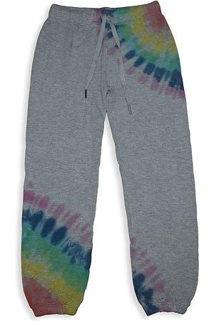 Flowers By Zoe Boys Neckties - Girl's Tie-Dye Sweatpants - Grey Multi - Size 7