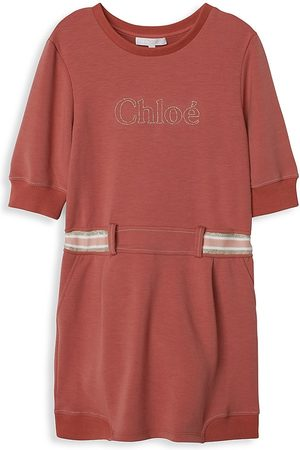 Chloé Little Girl's & Girl's Logo Braid Dress - Dark - Size 5