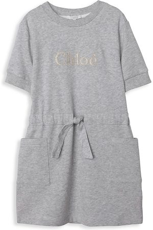 Chloé Girls Dresses - Little Girl's & Girl's Pocket Dress - Grey - Size 8