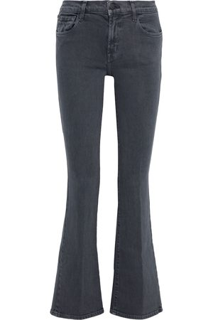 J Brand Woman Sallie Mid-rise Boot-cut Jeans Dark Size 26