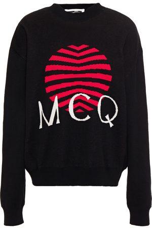 McQ Woman Intarsia Cotton Sweater Size L