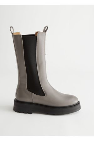 & OTHER STORIES Tall Leather Chelsea Boots