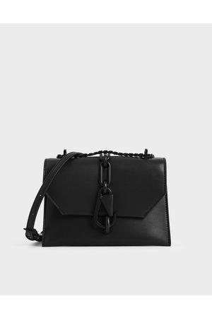 CHARLES & KEITH Women Shoulder Bags - Metallic Accent Crossbody Bag