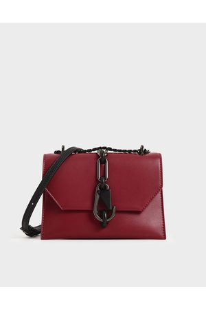 CHARLES & KEITH Metallic Accent Crossbody Bag
