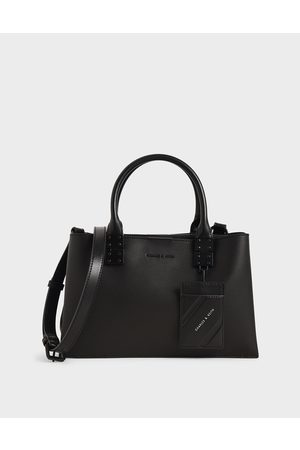 CHARLES & KEITH Women Bags - Double Top Handle Structured Bag