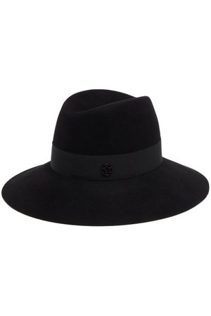 Le Mont St Michel Women Hats - Kate Grosgrain-trim Felt Fedora Hat - Womens