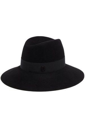 Maison Michel Kate Grosgrain-trim Felt Fedora Hat - Womens