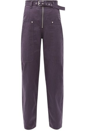 Isabel Marant Paggy Cotton-blend Canvas Cargo Trousers - Womens - Navy