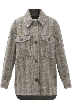 Isabel Marant Women Shirts - Garvey Wool-herringbone Shirt Jacket - Womens