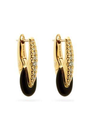 Melissa Kaye Women Earrings - Ada Diamond, Enamel & 18kt Gold Earrings - Womens - Multi