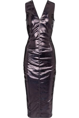 Rick Owens Coated cotton midi dress