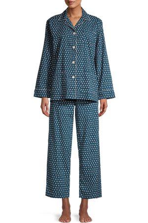 Roller Rabbit Women's Hearts 2-Piece Pajama Set - Navy - Size Small