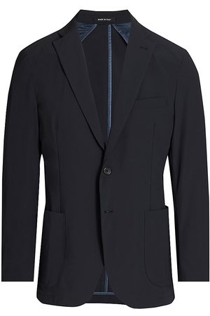 Saks Fifth Avenue Men's COLLECTION Modern Tech Travelers Jacket - Navy - Size Small