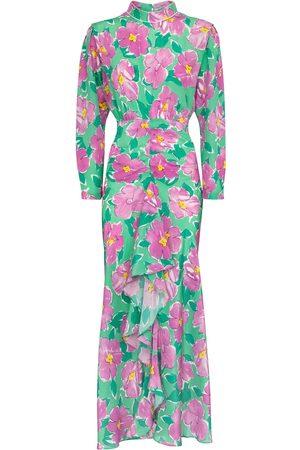 RIXO London Cherie floral silk maxi dress