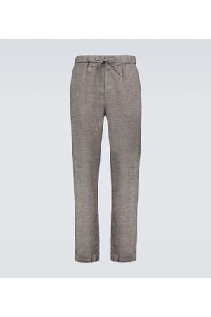 Frescobol Carioca Oscar linen-blend chino pants