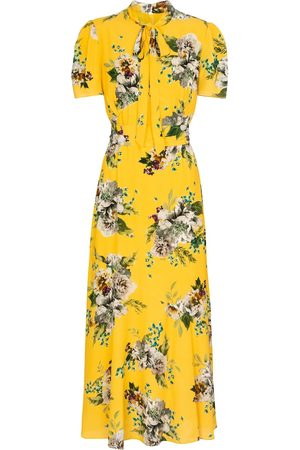 Erdem Elmer floral crêpe midi dress