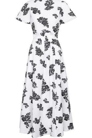 Erdem Fraser floral fil coupé midi dress