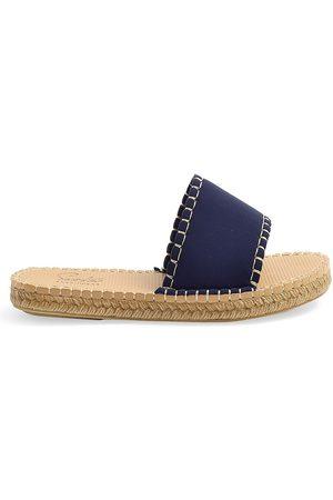 Sea Star Beachwear Women's Cabana Neoprene Slides - Dark Navy - Size 10 Sandals