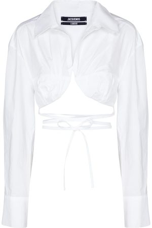 Jacquemus La Chemise Baci cropped cotton shirt