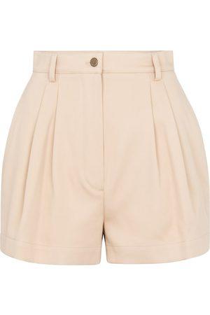 Alaïa High-rise cotton gabardine shorts