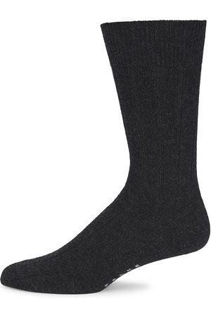 Falke Men's Lhasa Ribbed Socks - Anthramel - Size Small