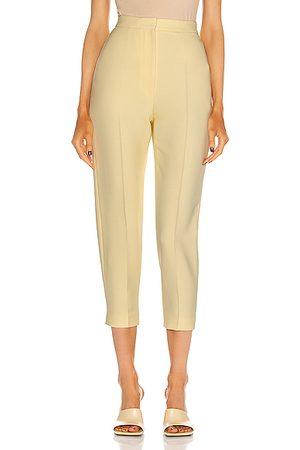 Alexander McQueen High Waist Slim Pant in Yellow
