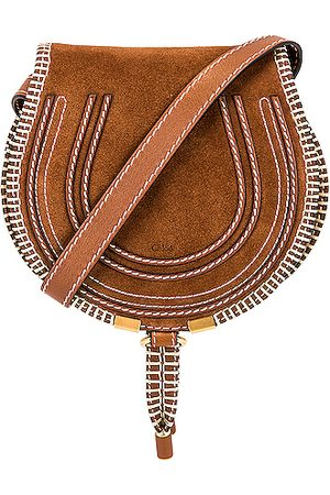 Chloé Small Marcie Suede Saddle Bag in