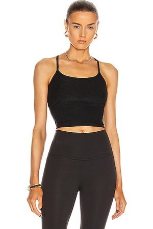 Beyond Yoga Spacedye Slim Racerback Cropped Tank in Black