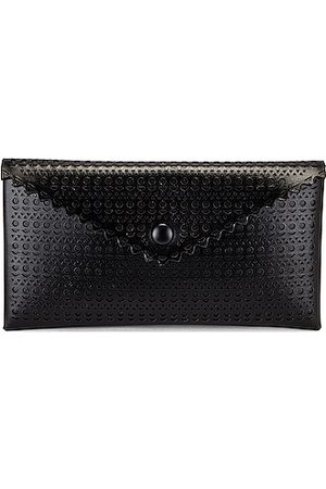 Alaïa Louise 24 Leather Perforated Clutch in