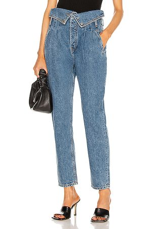 RE/DONE Women High Waisted - 80's Fold Over Jeans in Denim Medium