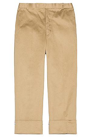Thom Browne Straight Leg Trouser in Neutral