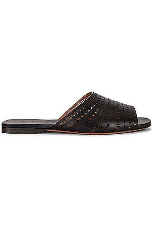 Alaïa Vienne Leather Slides in