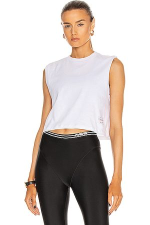 Adam Selman Sport Cropped Muscle Tee in