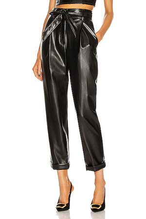 FLEUR DU MAL Vegan Leather High Waist Belted Pant in