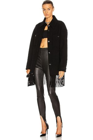 Alexander Wang Fringe Wool Peacoat in