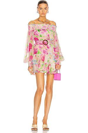 ROCOCO SAND Alora Mini Dress in Pink, Floral