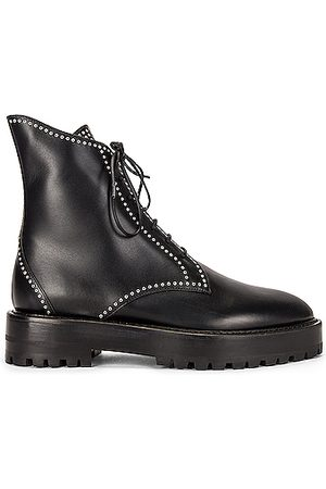 Alaïa Leather Micro Oeillets Boots in
