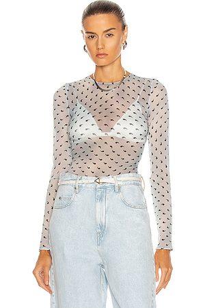 Maison Margiela Long Sleeve Bodysuit in ,Abstract