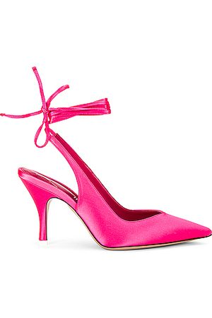 ATTICO Lace up Slingback Heel in Pink