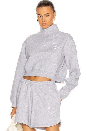 7 Days Active Crop Zip Up Sweatshirt in