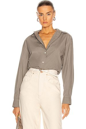 NILI LOTAN Yorke Shirt in Grey